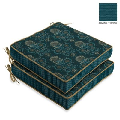 Bombay® Anatolia Blue Seat Cushions (Set of 2)