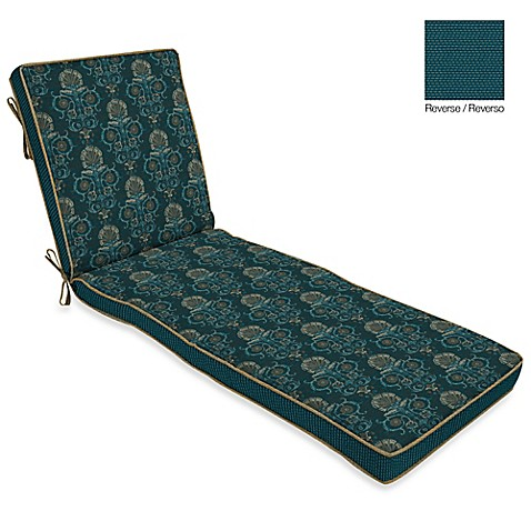 Buy bombay anatolia blue chaise cushion from bed bath for Blue chaise cushions