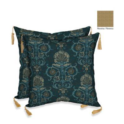 Bombay® 16-Inch Anatolia Blue Throw Pillow (Set of 2)