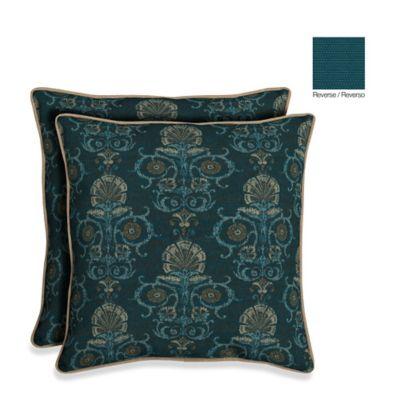 Bombay® 21-Inch Anatolia Blue Throw Pillow (Set of 2)