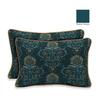 Bombay® 13-Inch x 20-Inch Anatolia Blue/Rhodes Indigo Throw Pillow (Set of 2)