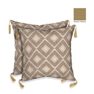 Brown Outdoor Pillow