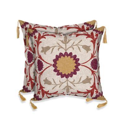 Bombay® Turkish Garden Outdoor Square Throw Pillow (Set of 2)
