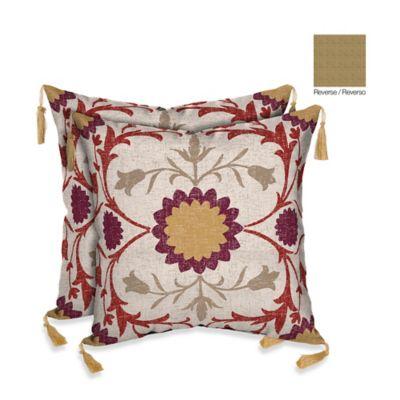 Bombay® Turkish Garden/Kenya Outdoor Square Throw Pillow (Set of 2)