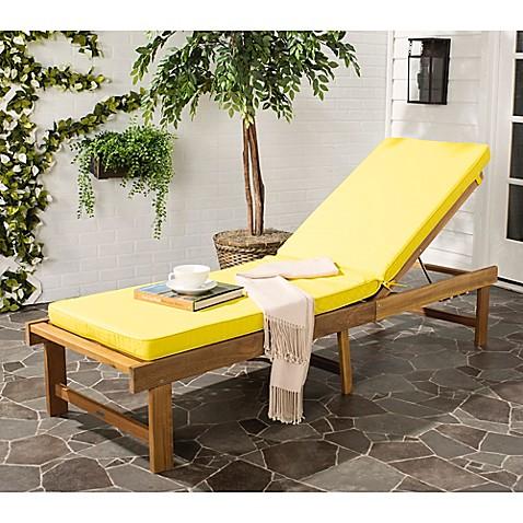 Buy safavieh inglewood acacia wood chaise lounge chair in for Acacia wood chaise lounge