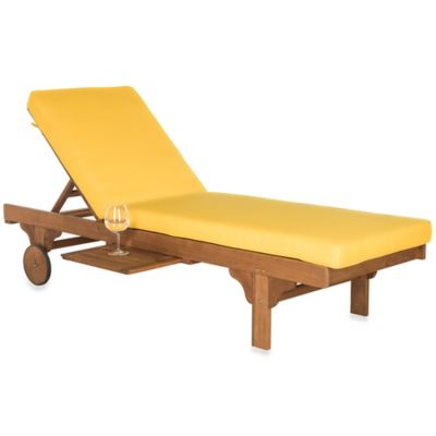 Safavieh Chaise Newport Lounger in Teak/Yellow