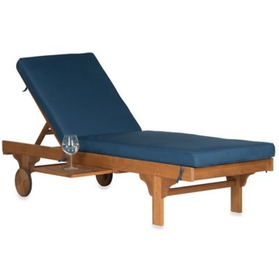Buy safavieh inglewood acacia wood chaise lounge chair in for Buy outdoor chaise lounge