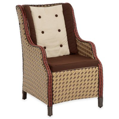 Bombay® Princeville Wing Chair in Paprika