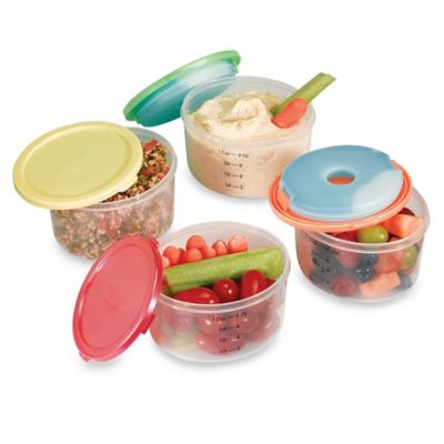 Fit & Fresh™ Smart Portion 1-Cup Round Chill Containers (Set of 4)