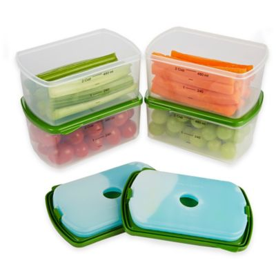 Fit & Fresh™ Smart Portion 1-Cup Rectangular Chill Containers (Set of 4)