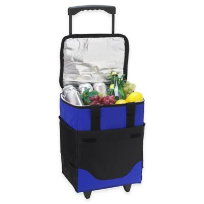 Picnic at Ascot 32-Can Collapsible Rolling Cooler