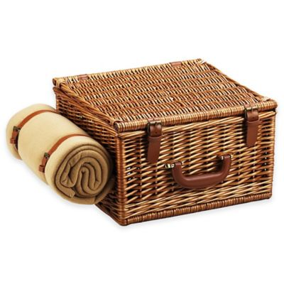 Picnic at Ascot Cheshire Basket for Two with Coffee Set and Blanket