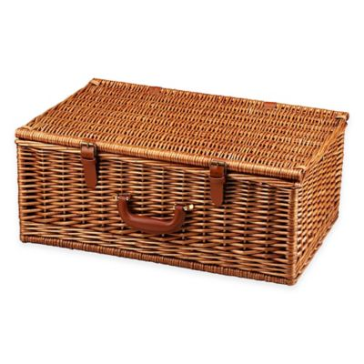 Brown Plaid Picnic Baskets