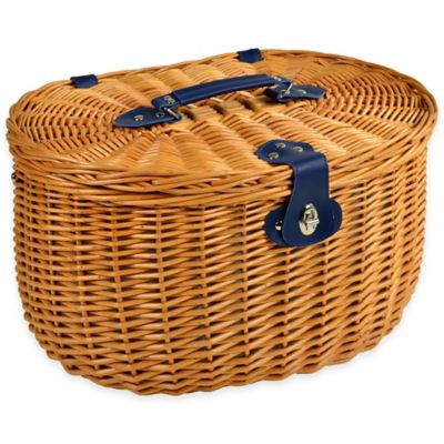 Picnic at Ascot Ramble Willow Picnic Basket for 2