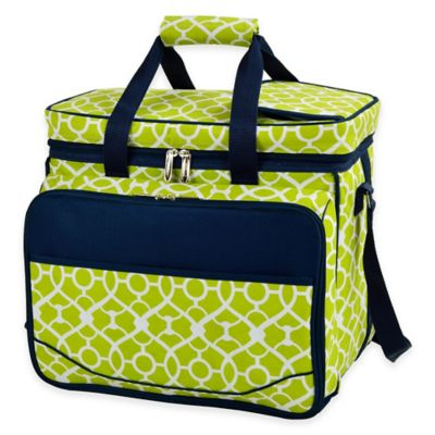 Picnic at Ascot Trellis Green Picnic Cooler for 4