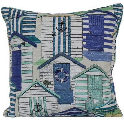 Beach Hut Outdoor Toss Pillow