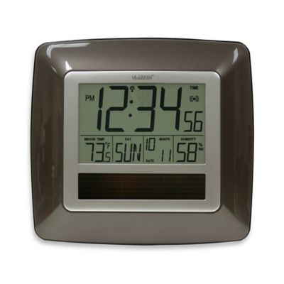 La Crosse Technology Atomic Digital Clock w/ Indoor Temp and Humidity in Bronze