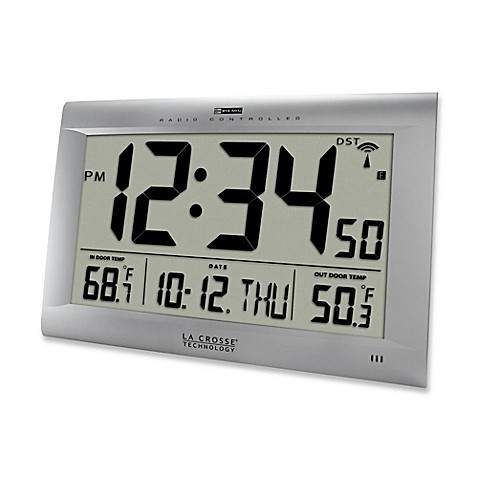 Buy La Crosse Technology Large Atomic Digital Clock With