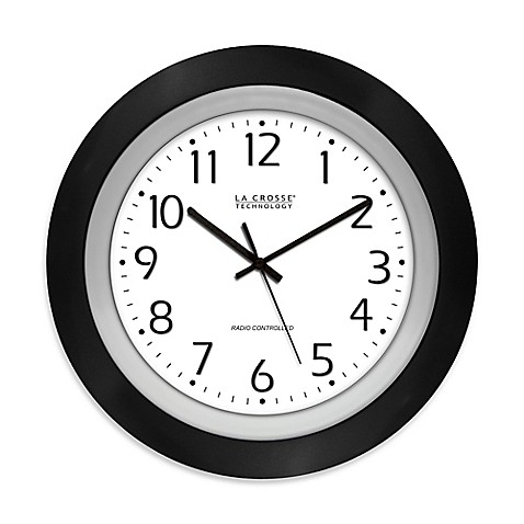 La Crosse Technology 10-Inch Atomic Analog Wall Clock in ...