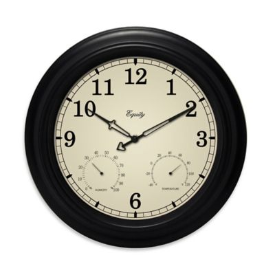 Black Indoor / Outdoor Clocks
