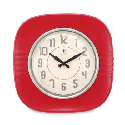 Infinity Instruments '50s Style Diner Wall Clock in Red