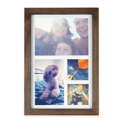 Umbra® 4-Photo Collage Wood Frame in Walnut