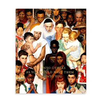 Norman Rockwell Golden Rule 40-Inch x 48-Inch Canvas Wall Art
