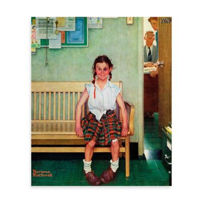 Norman Rockwell Shiner 30-Inch x 36-Inch Canvas Wall Art