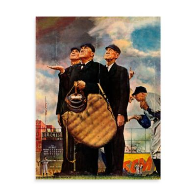 Norman Rockwell Bottom of the Sixth 30-Inch x 39-Inch Canvas Wall Art