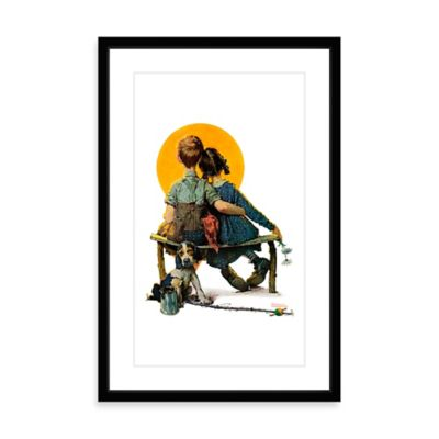 Norman Rockwell Sunset 12-Inch x 18-Inch Framed Print Wall Art