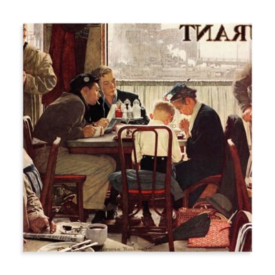 Norman Rockwell Saying Grace 32-Inch x 32-Inch Canvas Wall Art