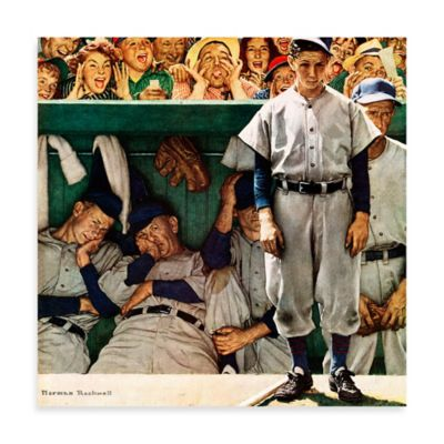 Norman Rockwell The Dugout 48-Inch x 48-Inch Canvas Wall Art