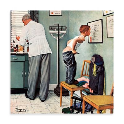 Norman Rockwell Before the Shot 18-Inch x 18-Inch Canvas Wall Art