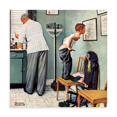 Norman Rockwell Before the Shot 24-Inch x 24-Inch Canvas Wall Art