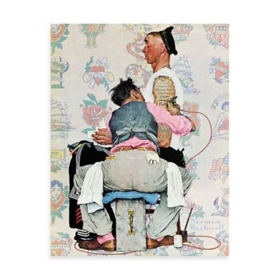 Norman Rockwell Tattoo Artist 40-Inch x 52-Inch Canvas Wall Art