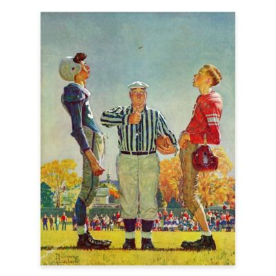 Norman Rockwell Coin Toss 24-Inch x 31-Inch Canvas Wall Art