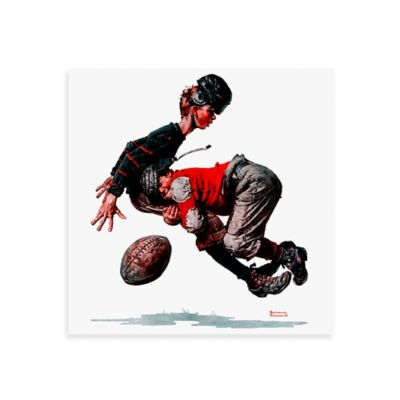 Norman Rockwell Fumble 18-Inch x 18-Inch Canvas Wall Art