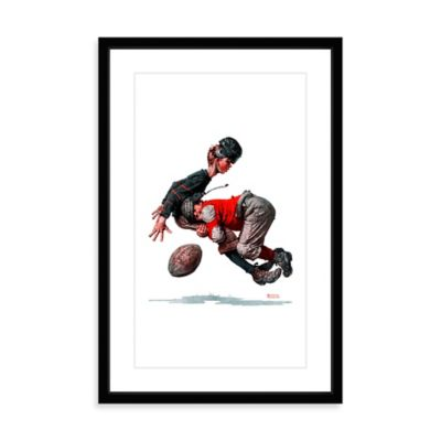 Norman Rockwell Fumble 20-Inch x 30-Inch Framed Print Wall Art