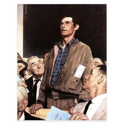 Norman Rockwell Freedom of Speech 24-Inch x 31-Inch Canvas Wall Art
