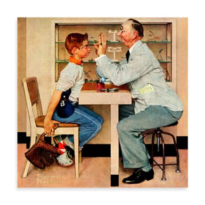 Norman Rockwell Eye Doctor 32-Inch x 32-Inch Canvas Wall Art