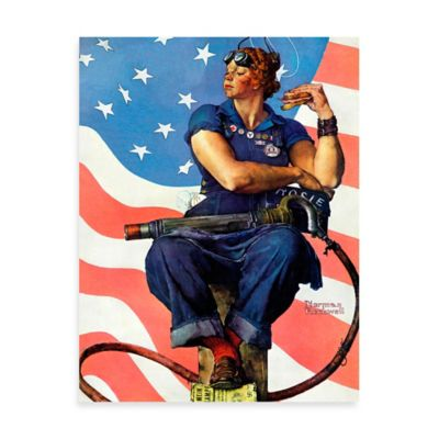 Norman Rockwell Rosie the Riveter 30-Inch x 39-Inch Canvas Wall Art