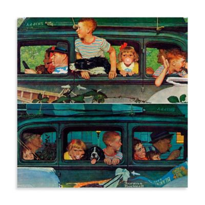 Norman Rockwell Coming and Going 18-Inch x 18-Inch Canvas Wall Art