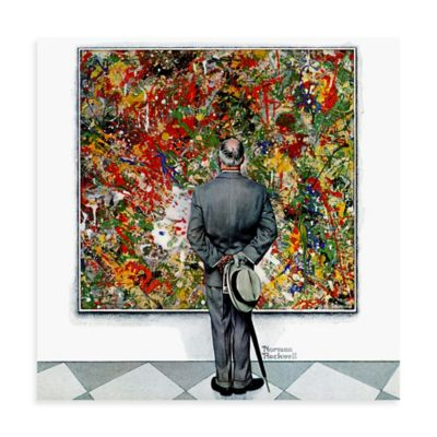 Norman Rockwell Art Connoisseur 40-Inch x 40-Inch Canvas Wall Art
