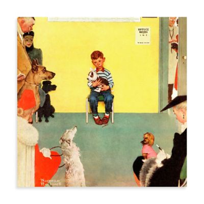 Norman Rockwell At the Vets 24-Inch x 24-Inch Canvas Wall Art