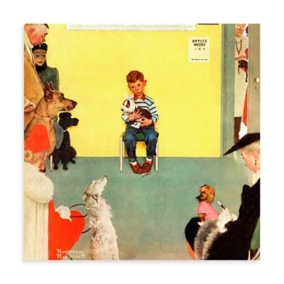 Norman Rockwell At the Vets 48-Inch x 48-Inch Canvas Wall Art