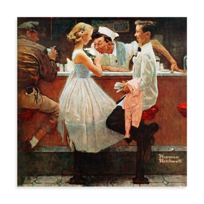 Norman Rockwell After the Prom 18-Inch x 18-Inch Canvas Wall Art