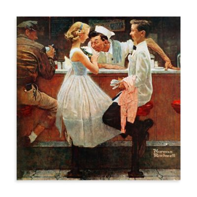 Norman Rockwell After the Prom 24-Inch x 24-Inch Canvas Wall Art
