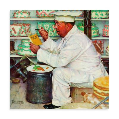 Norman Rockwell How to Diet 18-Inch x 18-Inch Canvas Wall Art