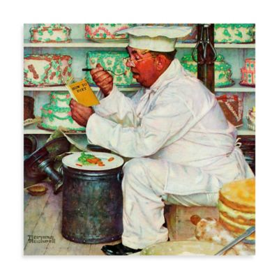 Norman Rockwell How to Diet 48-Inch x 48-Inch Canvas Wall Art