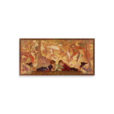 Norman Rockwell Land of Enchantment 36-Inch x 18-Inch Canvas Wall Art
